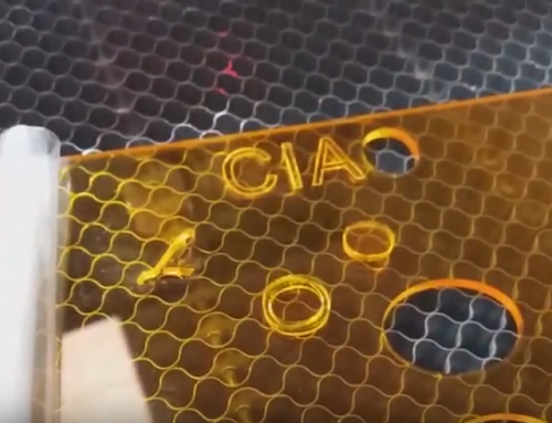 Video about CO2 Laser cut on Plexiglass fluo 3mm thick